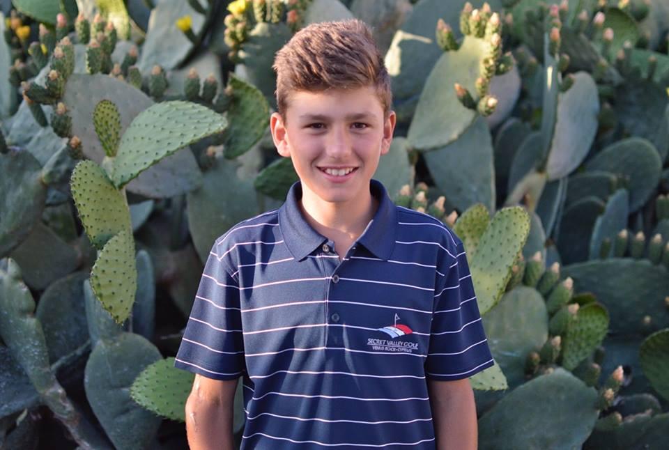 "Secret Valley Golf clubs Jr. member Savvas Michaelides has earned a place AT ""THE JUNIOR OPEN CHAMPIONSHIP"". KILMARNOCK (BARASSIE), SCOTLAND."