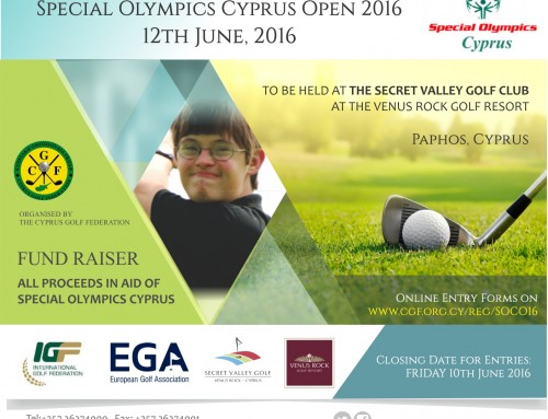 Fund Raiser for The Special Olympics Cyprus Team 2016