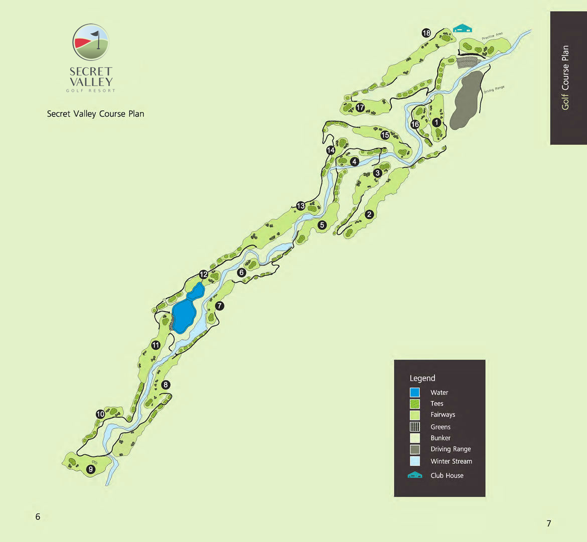 Secret Valley Golf Course Plan